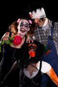 Group of insane halloween creatures Stock Photos