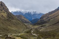 andean valley cuzco peru - stock photo