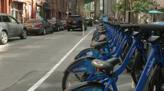 Citibike station in dumbo, Brooklyn, United States Stock Footage