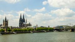 Timelapse/Hyperlapse Cologne Cathedral 1080p Stock Footage