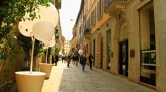 Italy Milan via della spiga Stock Footage