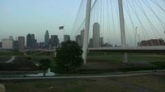 Margaret Hunt Bridge Over Trinity River Stock Footage