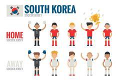 South korea soccer team Stock Illustration