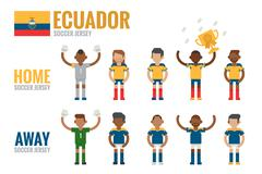 ecuador soccer icon - stock illustration