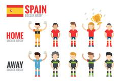 Spain soccer team Stock Illustration