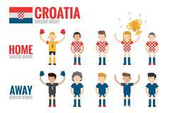 Stock Illustration of croatia soccer team charactor