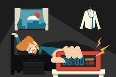 Lazy monday Stock Illustration