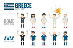 greece soccer team - stock illustration