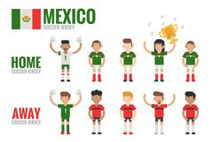 mexico soccer team - stock illustration