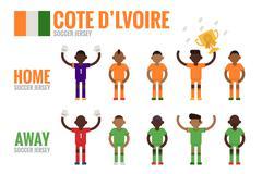 Cote d'ivoire soccer team Stock Illustration
