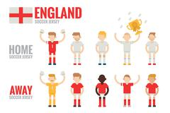 england soccer team - stock illustration