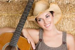 Maa kitara tyttö Kuvituskuvat