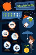 saving tips infographics design - stock illustration