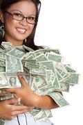 money woman - stock photo