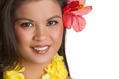 Tropical woman Stock Photos