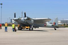 Legendary de havilland mosquito in preparation to fly on hamilton skyfest 201 Stock Photos