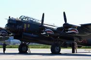 Stock Photo of avro lancaster, painted with markings of ropey, another lanc from the 419 squ