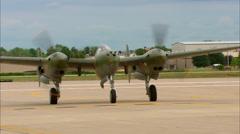 """P-38 """"Glacir Girl"""" Taxi Stock Footage"""