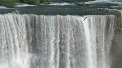 4K American Falls Closeup Establishing Shot Stock Footage