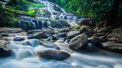 MAEYA Waterfall Famous Cascade Of Chiang Mai, Thailand (time lapse Loop) Stock Footage