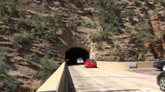 Mount Carmel Tunnel Zion National Park HD Stock Footage