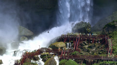 4K Tourists at Bridal Veil Falls Stock Footage