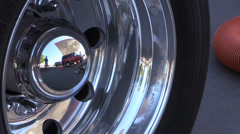 Gasoline delivery big rig. reflection Stock Footage