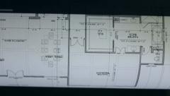 Floor plan printer Stock Footage