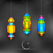 Ramadan Kareem (Generous Ramadan) background - stock illustration
