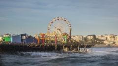 Santa Monica Pier Time Lapse video Stock Footage