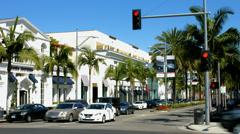 4K, UHD, Rodeo Drive, Beverly Hills, Los Angeles, Kalifornia, Blackmagic Camera Arkistovideo
