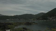 Fujikawaguchiko city, non color graded 4K (3840x2160) Stock Footage