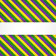 mardi gras background with banner - stock illustration