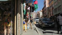 La Paz shopping street c Stock Footage