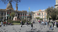 La Paz plaza c Stock Footage