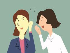woman gossip - stock illustration