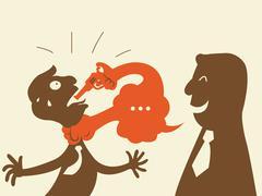 Kill with speech Stock Illustration