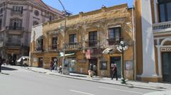 La Paz old building c Stock Footage