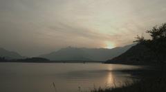 Lake Kawaguchi sun set, non color grade Full HD (1920x1080) Stock Footage