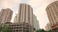 High-rise Condominium at Shanghai  French Concession Stock Footage