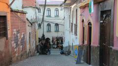 Bolivia La Paz street near witches market  Stock Footage