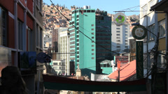 Bolivia La Paz green building  Stock Footage