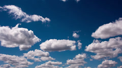 RAW Quality Timelapse of Clouds, blue sky Stock Footage