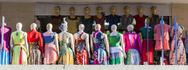 Stock Photo of group of mannequin in summer clothes.  merkato market. addis ababa. ethiopia.