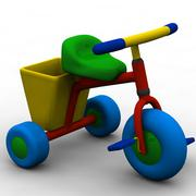 3d model of tricycle