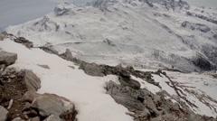 Rocky glacier panorama near Matterhorn Stock Footage