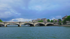 France, Paris, river Seine and Pont de la Concord, time-lapse. Stock Footage