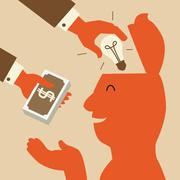 Trading idea Stock Illustration