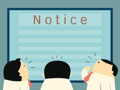 looking notice board - stock illustration