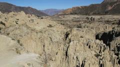 La Paz La Luna Valley view c Stock Footage